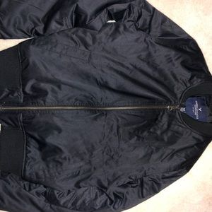 Black American Eagle Bomber Jacket
